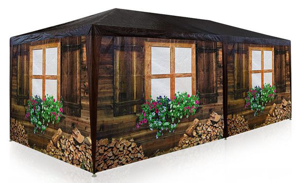 Garten Pavillon im Holzlook für 89€   für ein wenig Oktoberfest Feeling