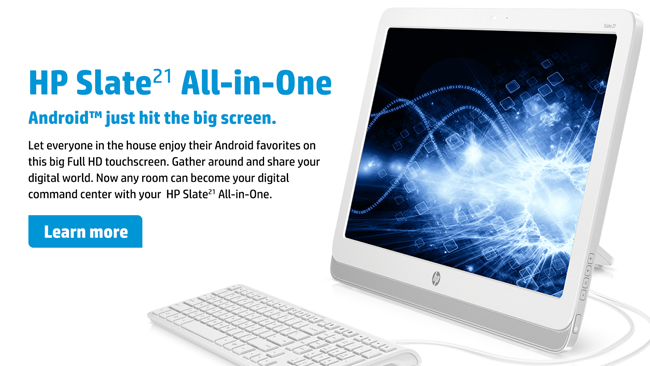HP Slate 21   21 Zoll All in One Android Tablet für 199€