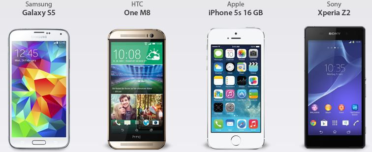 HTC Otelo Vodafone Allnet Flat L Vertrag  mit Top Prämien wie HTC one M8, iPhone 5S u.a. ab 24,99€ monatl.