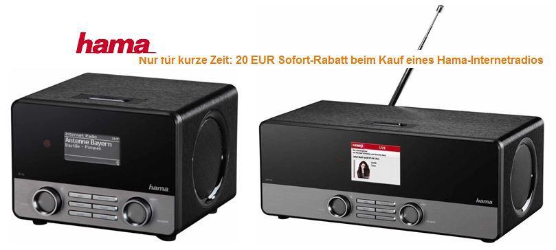 Hama IR110   Internetradio WLAN / LAN mit Fernbedienung, stereo statt 118€ für 103,89€ dank Amazon 20€ Sofort Rabatt Aktion   Update