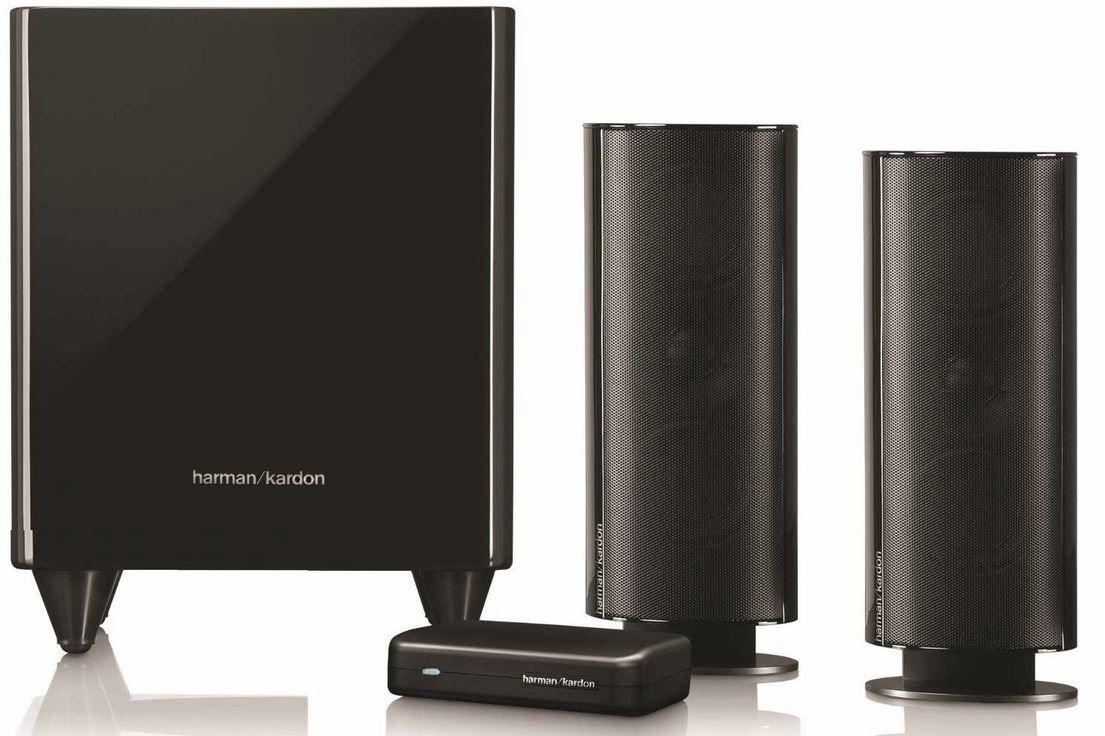 Harman Kardon HKTS 200 BQ   2.1 Anlage mit wireless aktiv Subwoofer für 329€