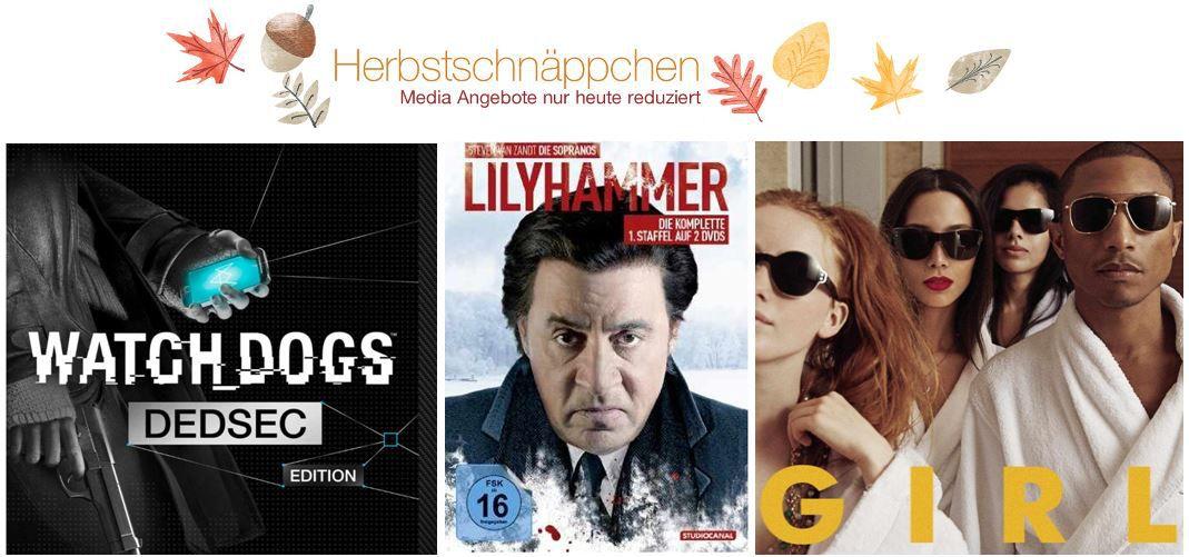 Amazon DVDs, MP3, Games & Blu rays @digitale Herbstschnäppchen Tag1