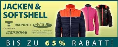 Jacken Plutosport mit bis zu 75% Rabatt im Fußball Sale und 65% Rabatt auf Softshell Jacken