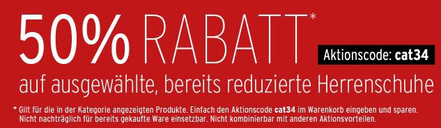 Karstadt: satte 50% Rabatt auf bereits reduzierte Schuhe