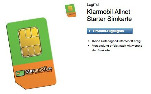 Klarmobil Allnet Starter  Knaller! Klarmobil Allnet Starter Tarif (D Netz, 100 Minuten, 100 SMS, 300MB) für nur 2,95€ monatlich