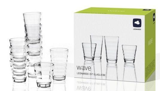 12er Set Leonardo Wave Gläserset für 11,94€ oder 36er Set für 17,92€