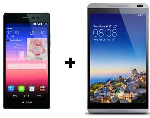 Smartphone Ascend P7 und Tablet MediaPad M1 8.0 für einmalig 49€ + BASE Vertrag für 12,50€ monatl.