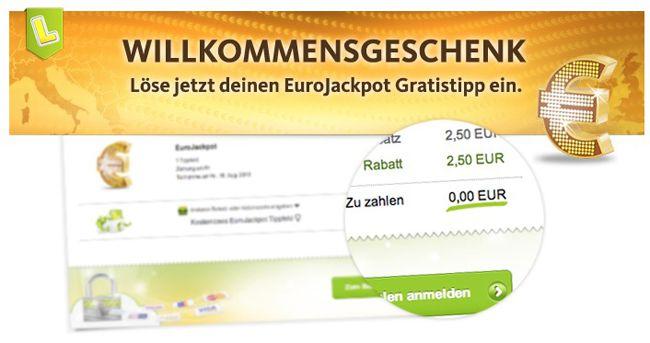Lottoland Lottoland: Gratis Tipp für den EuroJackpot für Neukunden   Update!