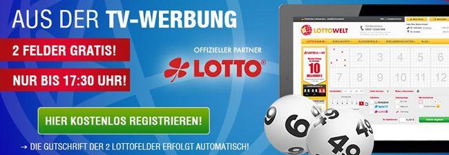 Lottowelt: 2 kostenlose 6 aus 49 Lottofelder für Neukunden
