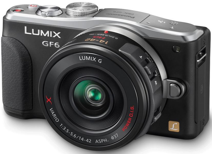 Lumix Panasonic Lumix DMC GF6XEF K   16MP Systemkamera mit 14 42 mm Power Zoom Objektiv für 365,50€