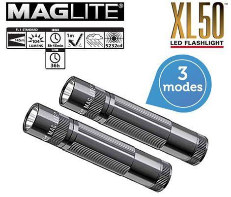 Maglite XL50 LED Taschenlampe  Maglite XL50 LED Taschenlampe im Doppelpack statt 73€ für 35,90€   Update!