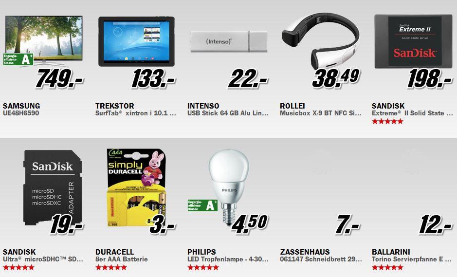 Media Markt Restposten Aktion: z.B. Samsung UE48H6590   48Zoll TV für 749€   Update!