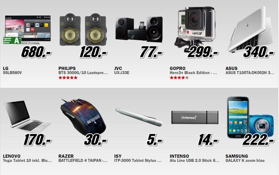 MediaM2 Media Markt Restposten Aktion: z.B. Samsung Galaxy K zoom für 222€