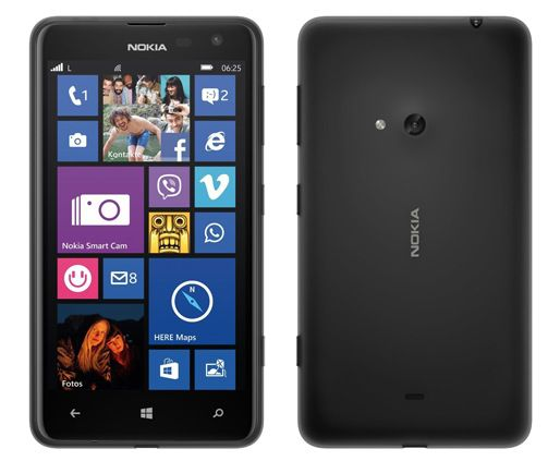 Nokia Lumia 625 (4,7 Zoll, 8GB, Windows 8.1, LTE) für 37,99€
