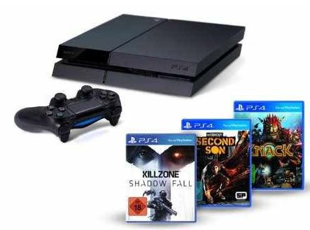 PS4 PS4 + Killzone: S.F. + Knack + inFamous für 399€   Update