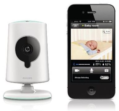Philips In.Sight B120 Netzwerkkamera mit Babyfon für 59,90€ (statt 110€)