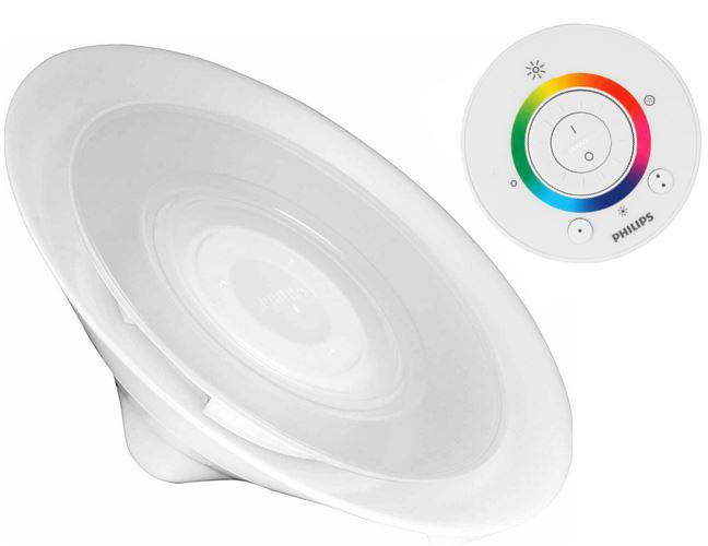 Philips Living Colors Philips LivingColors Aura Tischleuchte in weiß für 48,90€   dank neuen 10€ MeinPaket Gutschein (50€ MBW)