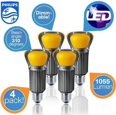 Philips MASTER LEDbulb   4 LED Lampen dimmbar mit E27 und 1055 Lumen für 65,90€