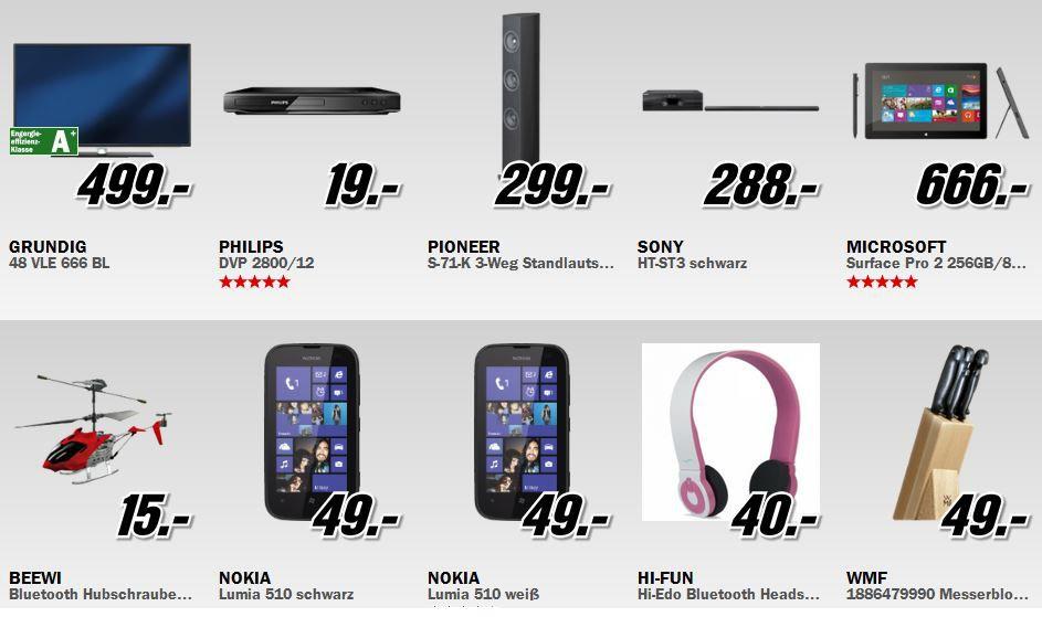 Media Markt Restposten Aktion: z.B. GRUNDIG 48 VLE 666 BL   48 Zoll 3D Wlan Smart TV für 499€