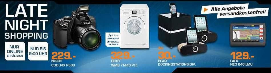 PEAQ PPA200 WD iPad Dock ab 15€ – und mehr Saturn Late Night Sale Angebote