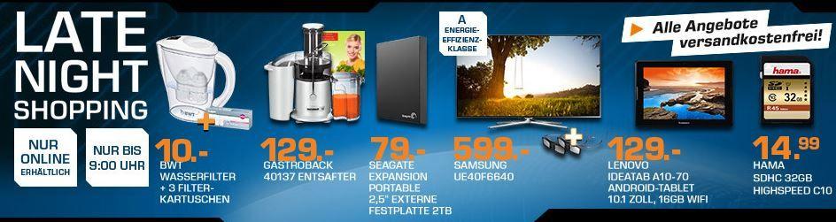 SEAGATE STBX2000401 Expansion 2TB ext. Festplatte für 79€ – und mehr Saturn Late Night Sale Angebote