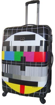 Saxoline Tv screen   ein Schalenkoffer mit TV Screen und 81 Liter Volumen für 47,98€