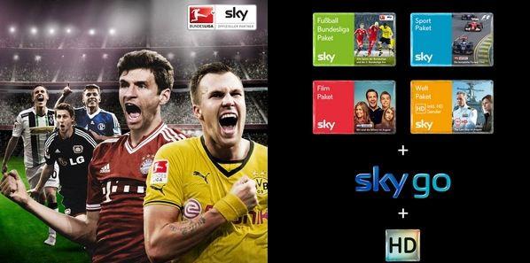 Sky Abo 24 Monate Sky Komplett Paket mit HD und SkyGo für 34,90€ monatlich