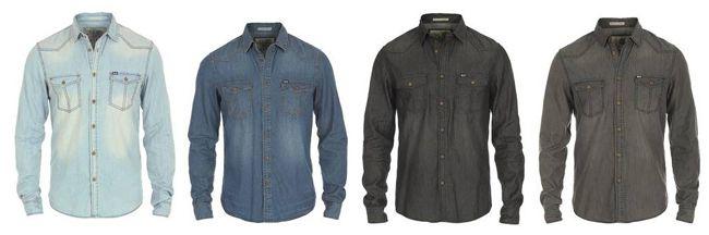 Solid Taksa Jeanshemden in verschiedenen Farben für je 29,99€