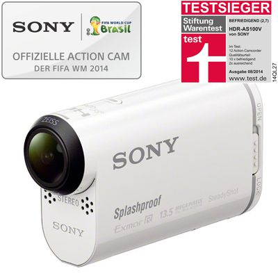 Sony HDR AS100 Sony HDR AS100 Remote Edition   kompakter WLAN Camcorder mit Unterwassergehäuse ab 199€