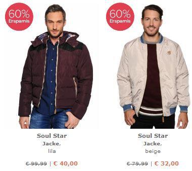 SoulStar Soul Star Jacken oder LTB Flyod Jeans jeweils schon ab 32€ bei der Dress for Less 60% Rabatt Aktion   Update!