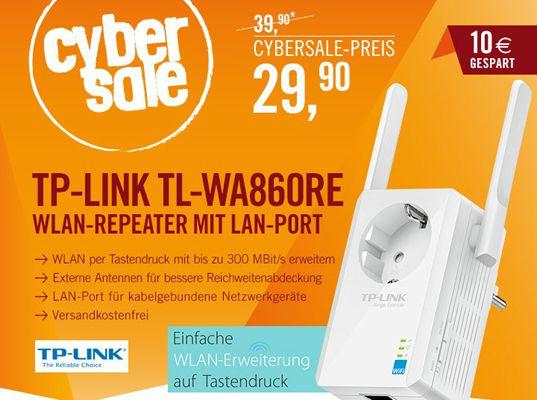 TP LINK TL WA860RE TP LINK TL WA860RE   WLAN n Repeater mit Steckdose und LAN Port für 29,90€