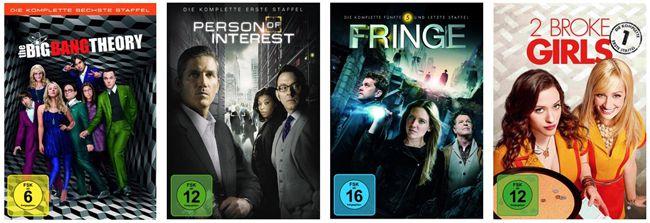 TV Serien 3 TV Serien für nur 25€ bei Amazon   z.B. The Big Bang Theory, 2 Broke Girls und mehr