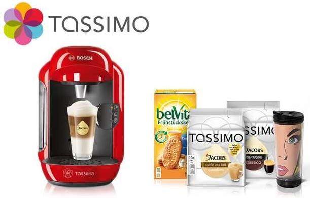 TASSIMO VIVY Maschine + Jacobs To Go Thermobecher + 2x T DISC Kapseln + belVita Kekse für 34,99€ (effektiv nur 14,99€)