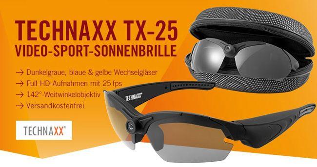 Technaxx TX 25   Full HD Video Sport Sonnenbrille für 69,90€