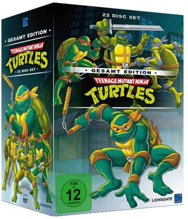 Teenage Mutant Ninja Turtles Teenage Mutant Ninja Turtles Gesamt Edition (22 Discs) für 29€ (statt 40€)