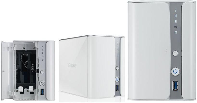 Thecus N2520   2 Bay Gigabit NAS System mit Mediaplayer für 99€