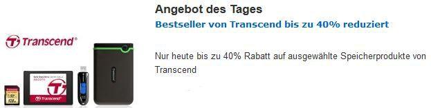 40% Rabatt beim Kauf von ausgewählten Transcend Speicherprodukten @Amazon   Update