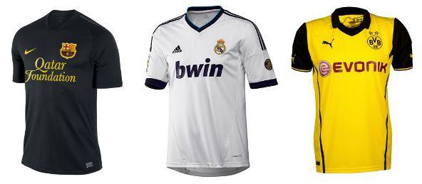 Trikots Trikots im SSV bei Outfitter   z.B. Real Madrid Home Trikot 2012/2013 für 19,95€