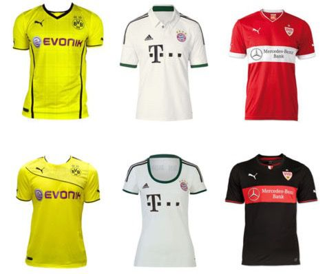 Verschiedene Fußball Trikots bekannter Vereine für jeweils nur 29,95€