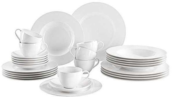 VB XXXL Shop mit guten Haushaltsschnäppchen   Villeroy & Boch 30 teiliges Geschirr Set Basic White statt 178 ab 99€