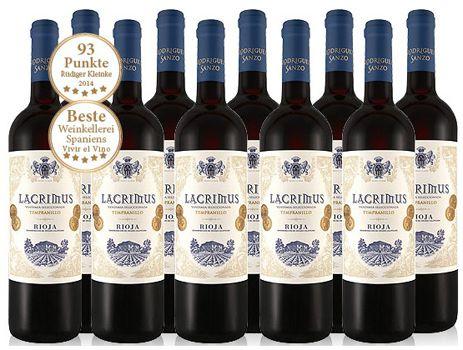 10 Flaschen Rioja Lacrimus Vendimia Seleccionada Rotwein für 49,90€