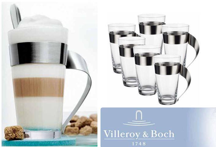 Villeroy Boch Villeroy & Boch New Wave Caffé   6tlg. Latte Macchiato Gläser Set für 79,99€