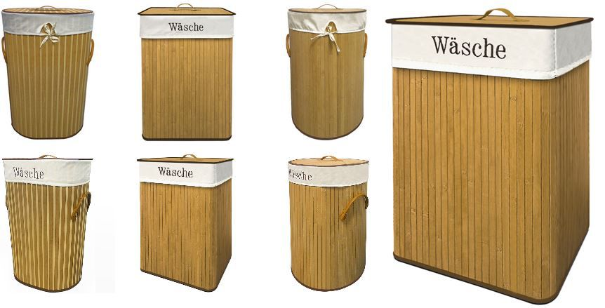 Wäsche Bambus Wäschekorb mit 70Liter für 14,95€ inkl. Versand