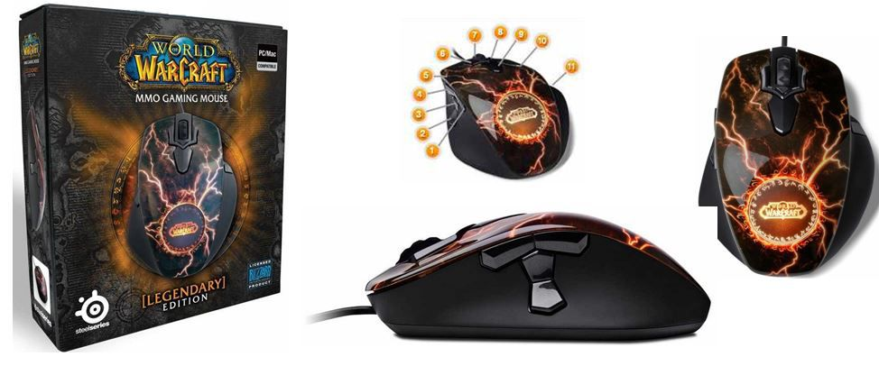 SteelSeries   World of Warcraft MMO Gaming Maus   Legendary Edition für 19,90€   Update