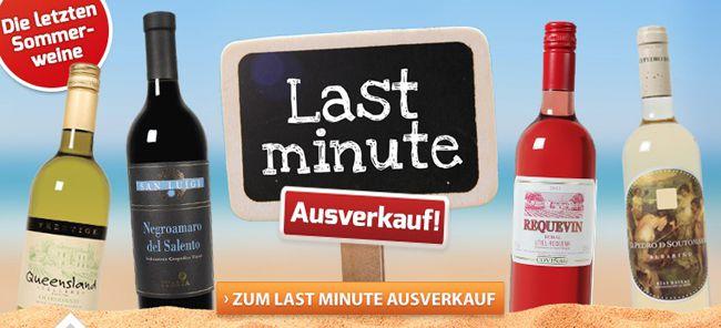 Last Minute Ausverkauf bei Weinvorteil + 10€, 15€ oder 25€ Gutschein
