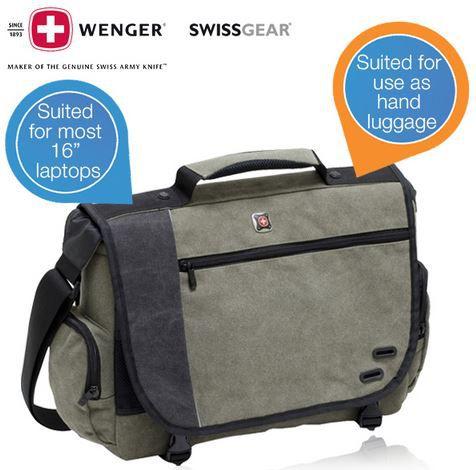 Wenger Wenger GA 7659 07F00   Zinc Messenger Notebook Tasche bis 16 Zoll für 25,90€   Update!