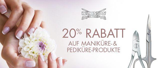 20% Rabatt auf Wilkinson Sword Hand  und Fußpflege Produkte