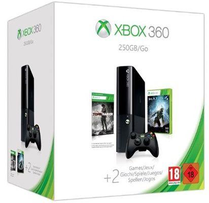 Xbox 360 250GB Xbox 360 250GB + Halo 4 + Tomb Raider für ca. 158€ (statt 213€)