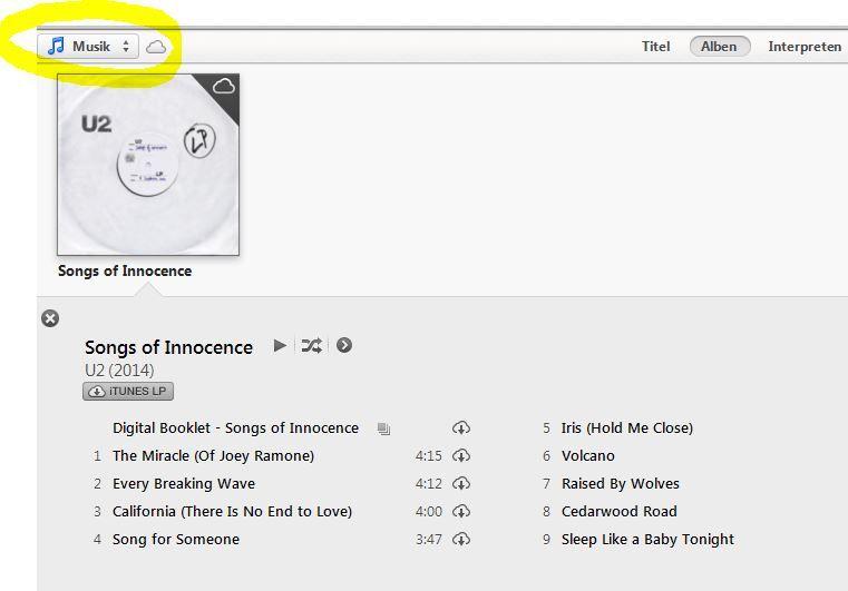 Kostenlos! U2 Album: Songs of Innocence im iTunes download   Update!