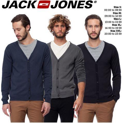 Jack&Jones   3er Pack Herren Cardigans für 35,90€